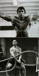 Paul Chek and Arnold Schwarzenegger both appearing in Muscle & Fitness magazine